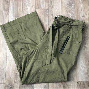 NEW Torrid Green Linen Blend Wide Leg Pants